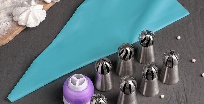 Набор насадок Воланы 9 предметов: 7 насадок d 3 см, мешок 32 см, адаптер