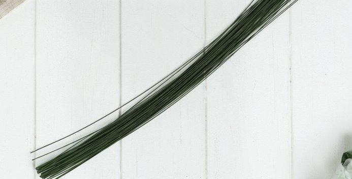 """Проволока для изготовления искусственных цветов """"Зелёная"""" длина 40 см сечение 0,"""