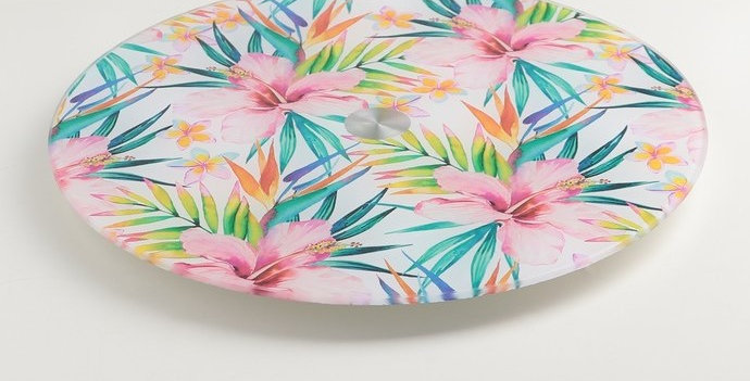 Подставка для торта вращающий столик  «Тропики», d=28 см
