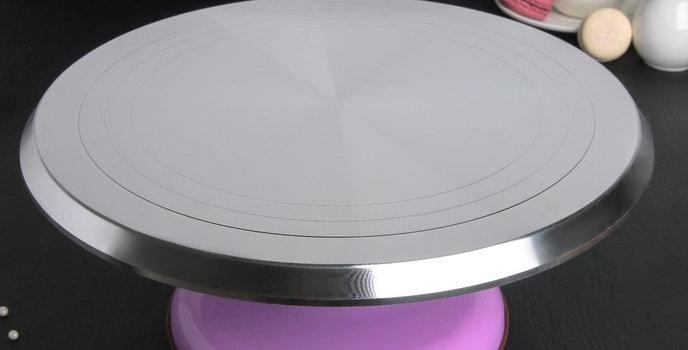 Подставка поворотный столик для торта  31х12,3 см цвета микс