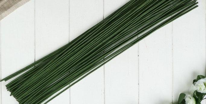 """Проволока для изготовления искусственных цветов """"Зелёная"""" 60 см сечение 4 мм"""