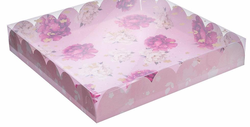 Коробка большая  «Чудесный подарок Пионы !», 35 × 35 × 6 см