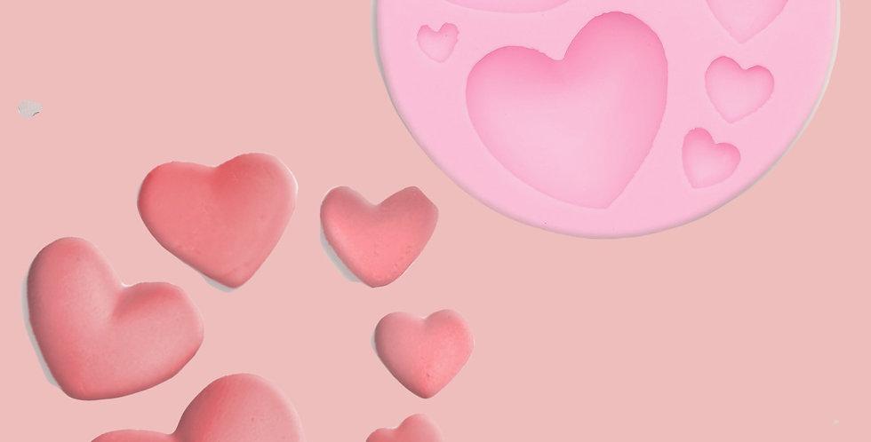 Молд силиконовый «Сердца», 7,5×7,5 см Валентинки