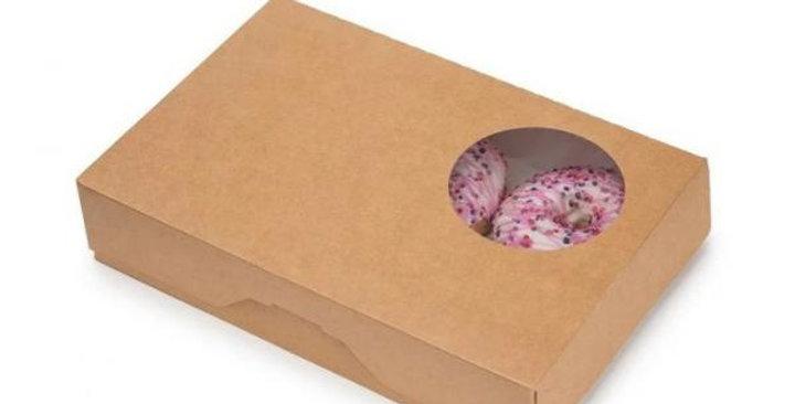 Упаковка ECO для пончиков и кондитерских изделий крафт