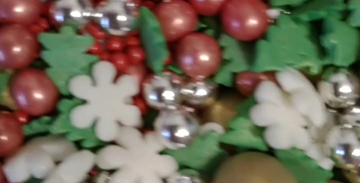 Новогодний микс с золотыми  шарами 100 гр