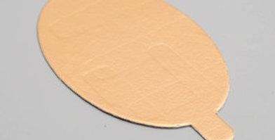 Подложка золото с держателем овал 60*95 мм (Толщина 0,8 мм)