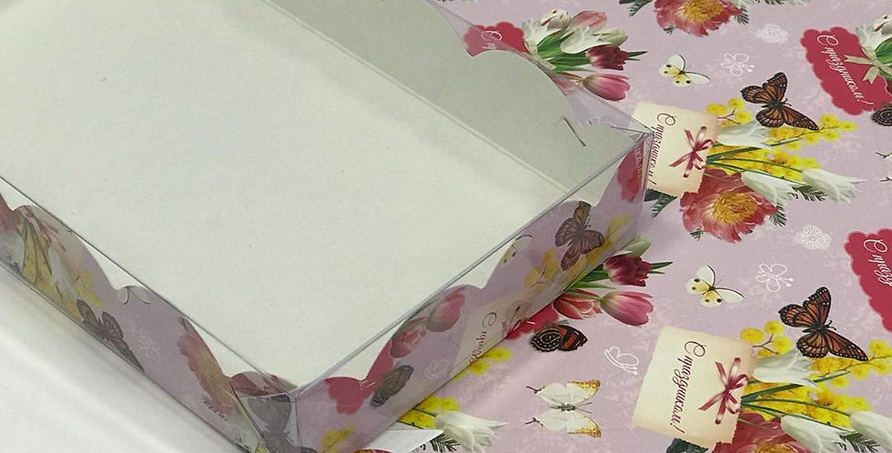 Коробка для печенья и пряников подарочная 200*200*35 мм