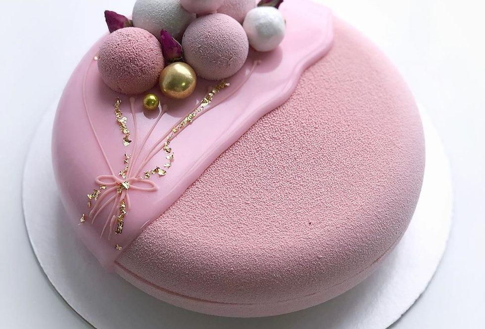 Шоколадный  ВЕЛЮР розовый   400 мл