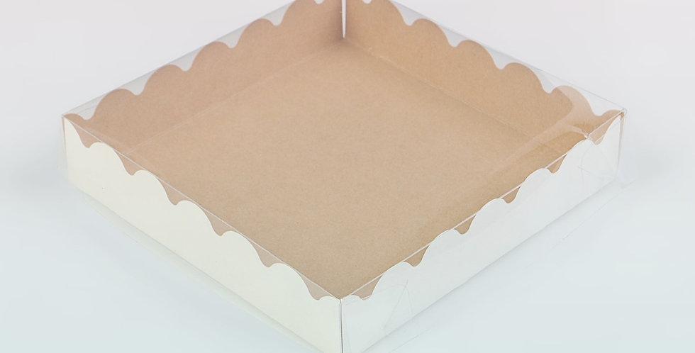 Коробочка для печенья и пряников , крафт, 15 х 15 х 3 см