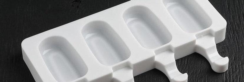 Форма для мусса  и мороженого «Эскимо малое», 21,5×12,5×2 см, 4 ячейки