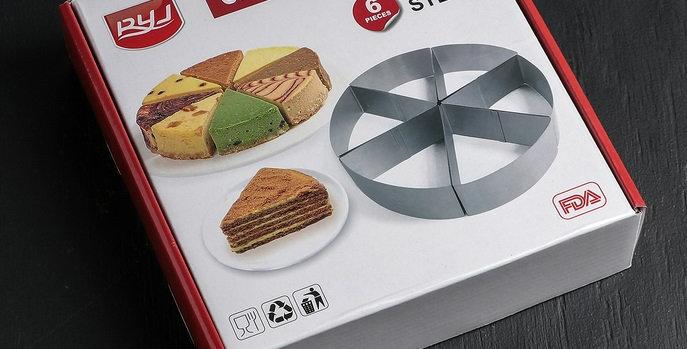 """Набор форм для выпечки 6 шт """"Кусочек торта"""""""