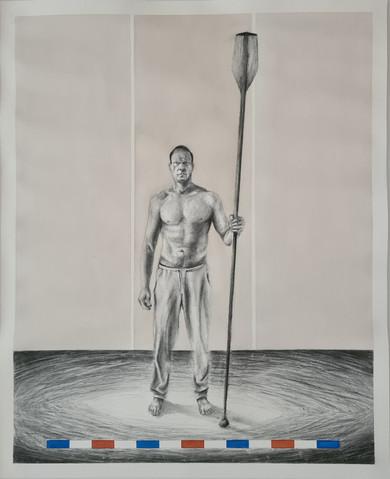 Dennis Kristensen - Bly-Grafit-Akvarel - 60 x 40 cm