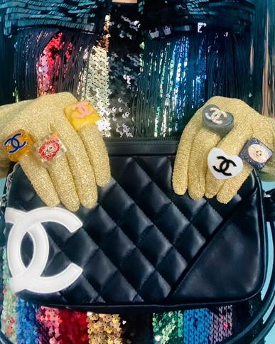 repurposed Chanel Heart Rings