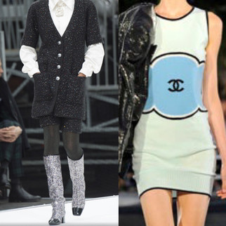 Chanel 17 Glitter Boots Chanel Sweater Dress