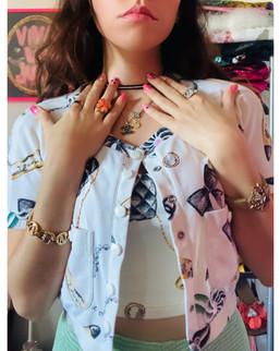 Chanel Crop Top & Jacket set