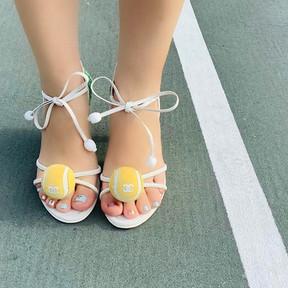 Chanel Tennis Ball Heels
