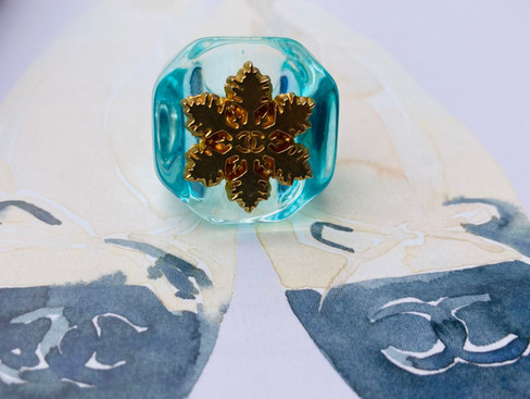 Repurposed Chanel Snowflake