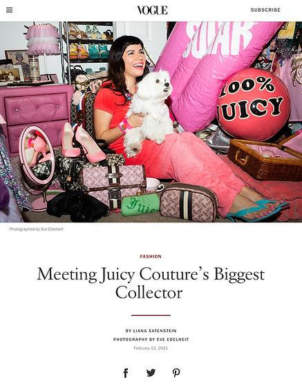Featured IN Vogue Magazine
