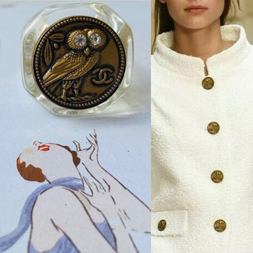 repurposed Chanel owl ring