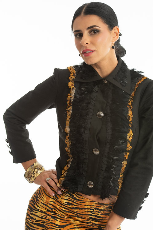 Lily's Buttoned Up Silk Jacket.