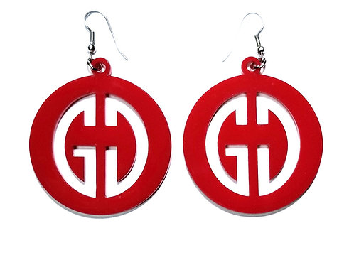 G. Destin Collection Branded Red Earring