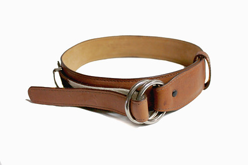 Double Ring Buckle Cow Hide