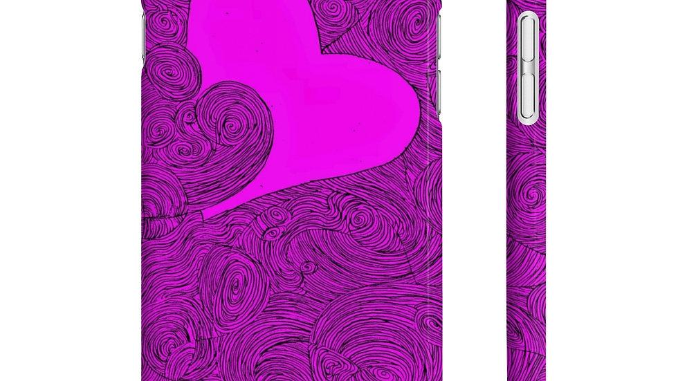heart doodle - Wpaps Slim Phone Cases