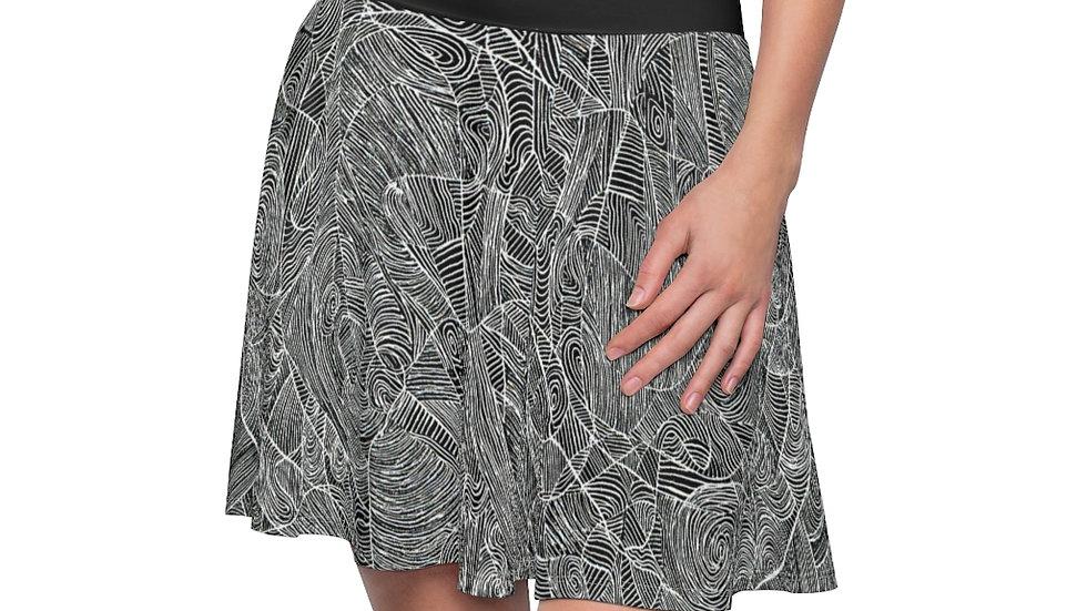 line doodle - Women's Skater Skirt