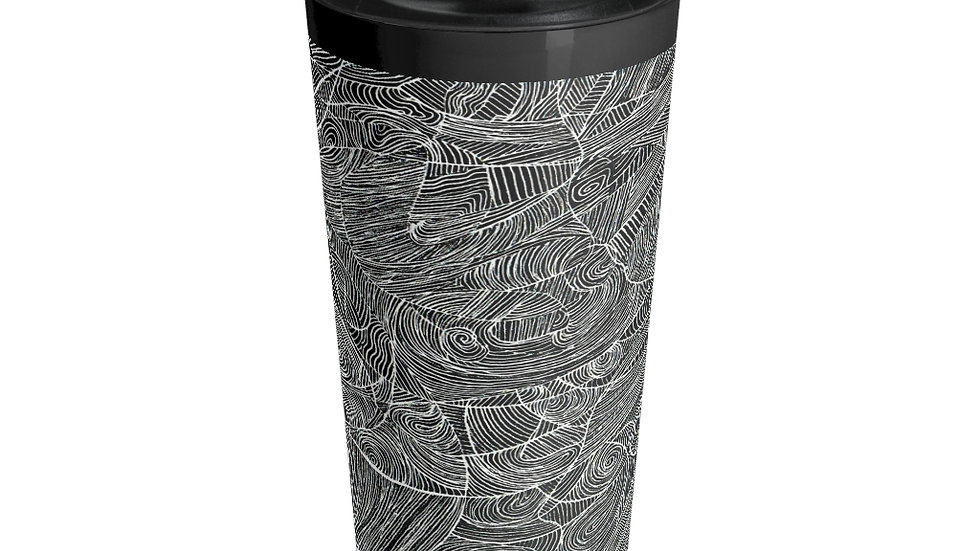 line doodle - Stainless Steel Travel Mug