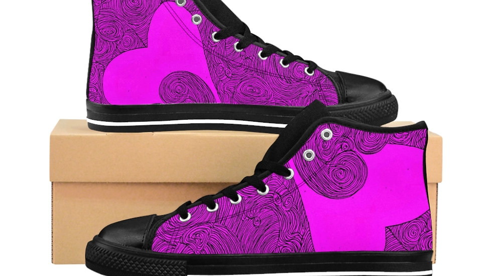 heart doodle - Men's High-top Sneakers
