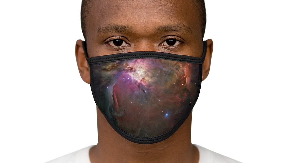 orion nebula - Mixed-Fabric Face Mask