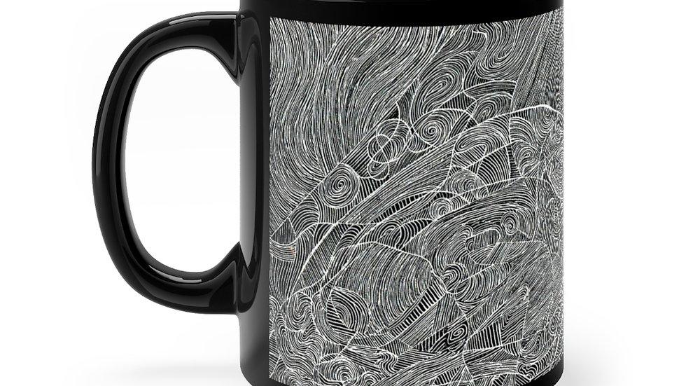 vectors doodle - Black mug 11oz