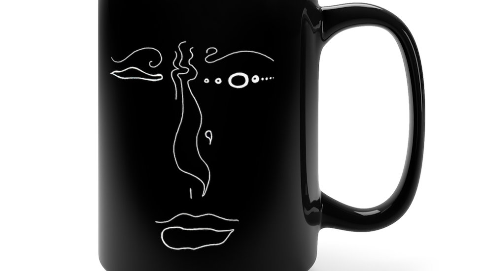 face of know - Black Mug 15oz