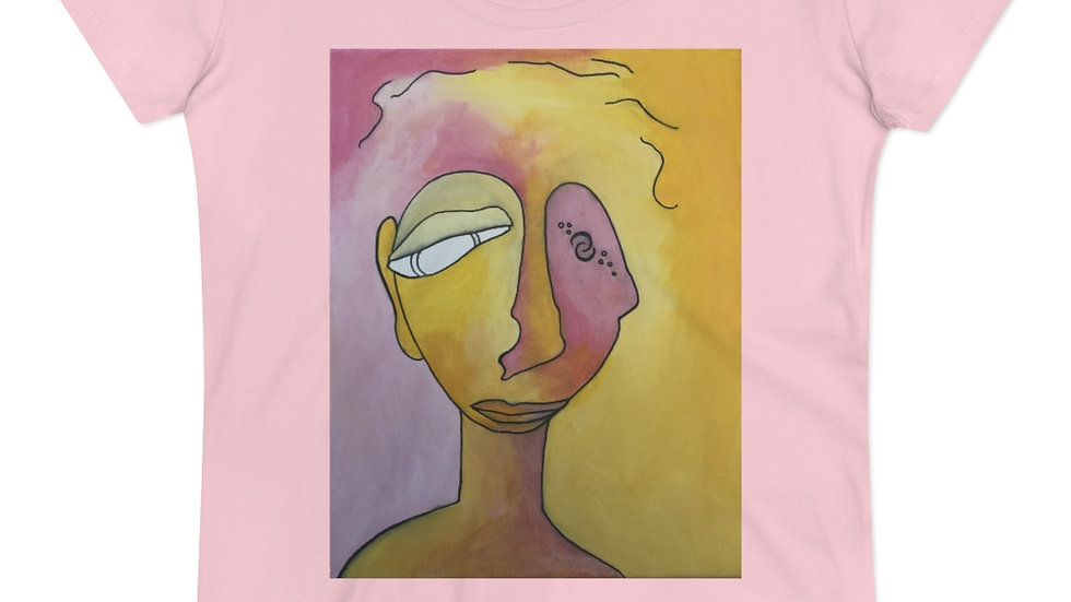 portrait in pink&gold - Organic Women's Lover T-shirt