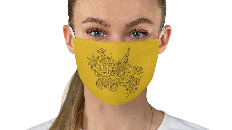 shape doodle Fabric Face Mask
