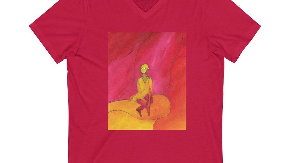 meditator - Unisex Jersey Short Sleeve V-Neck Tee