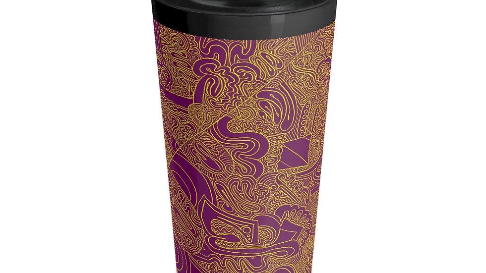 purple yellow - Stainless Steel Travel Mug