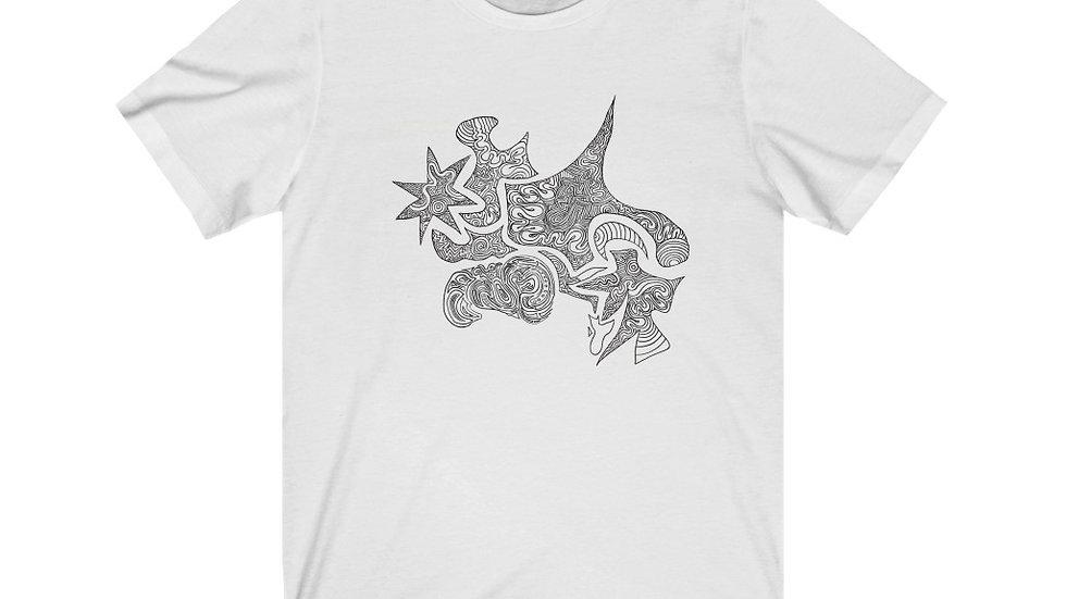 line shape shirt - Unisex Jersey Short Sleeve Tee