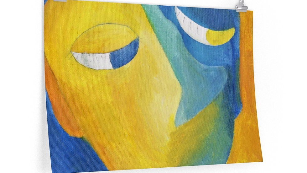 blue/gold face (painting) - Posters