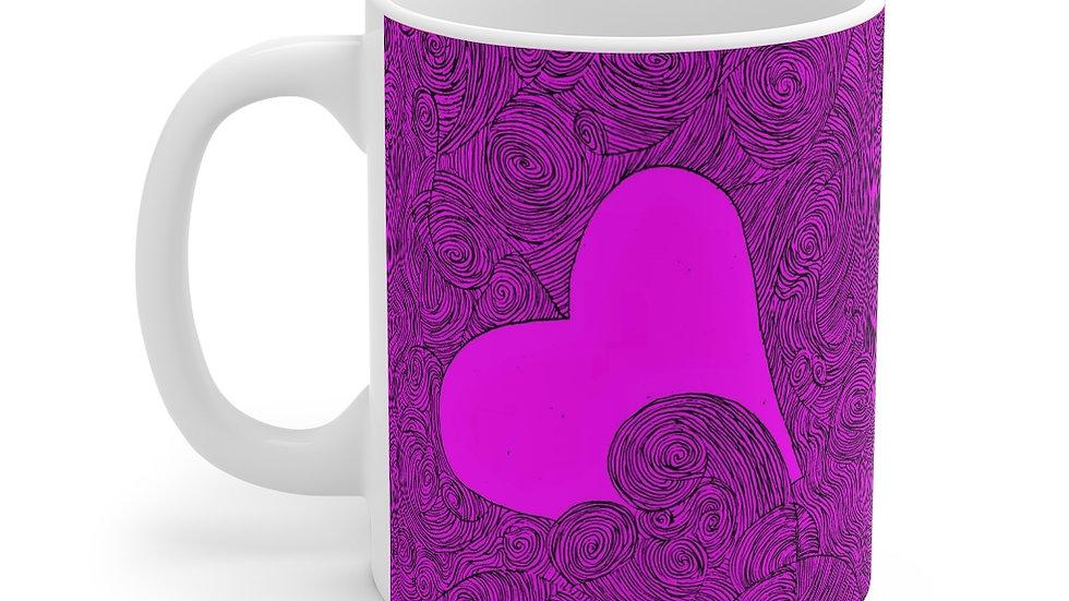 heartdoodle Mug 11oz