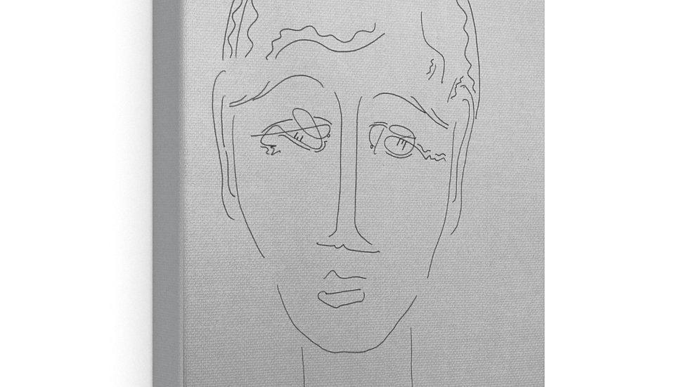 face sketch manach - Canvas Gallery Wraps
