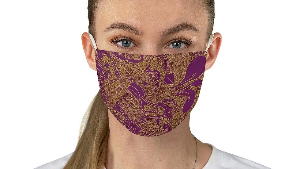 purple line doodle - Fabric Face Mask