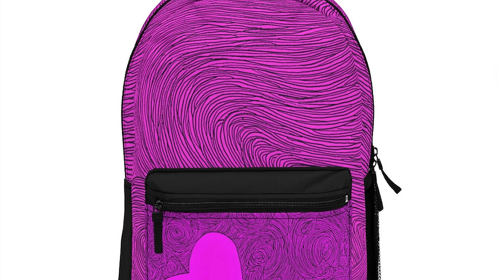 heart doodle - Backpack (Made in USA)