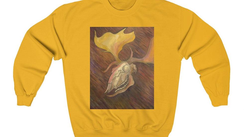 fallow deer skull - Unisex Heavy Blend™ Crewneck Sweatshirt