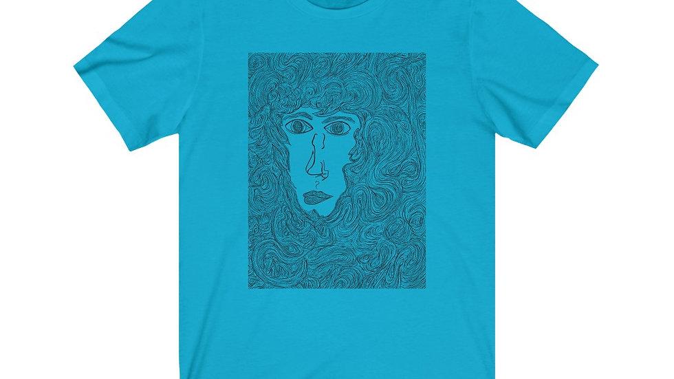liveoak (line doodle) - Unisex Jersey Short Sleeve Tee