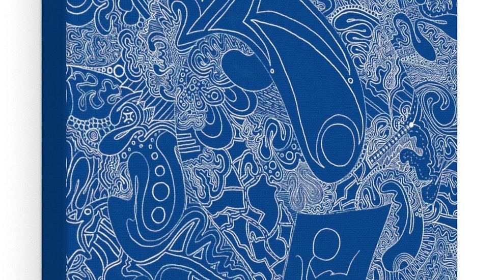 under pressure in blue - Canvas Gallery Wraps