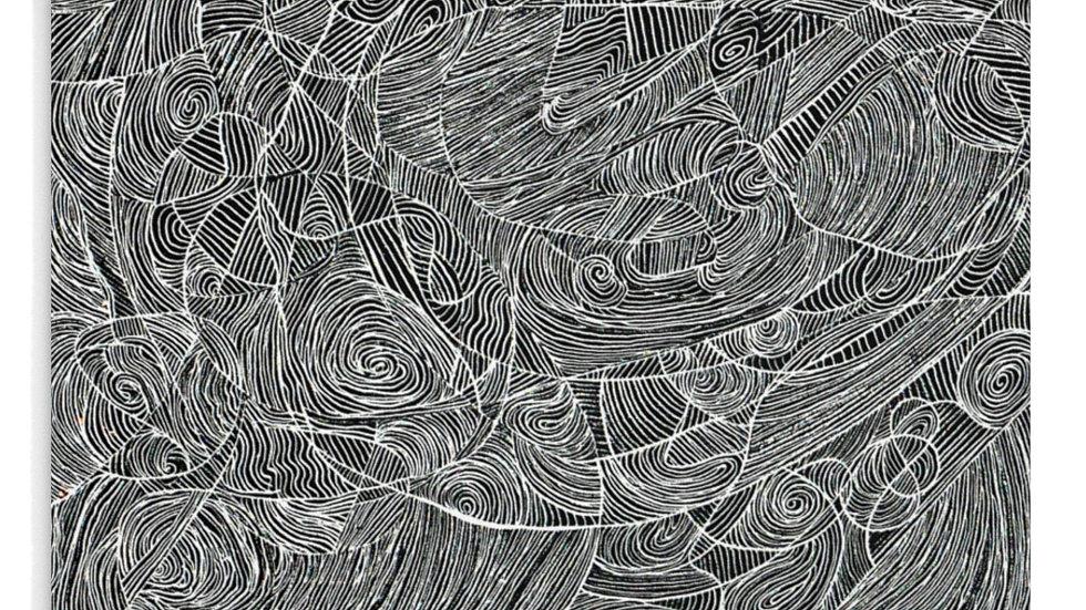 line doodle/vector - Mousepad