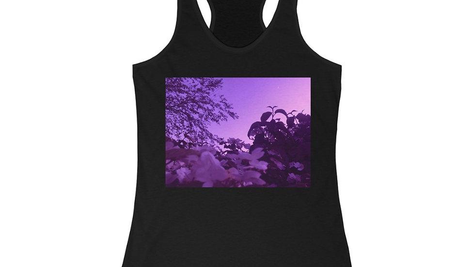 purple spring - Women's Ideal Racerback Tank