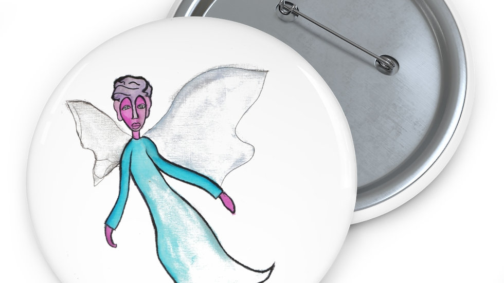 angel in the corner of my eye - Custom Pin Buttons
