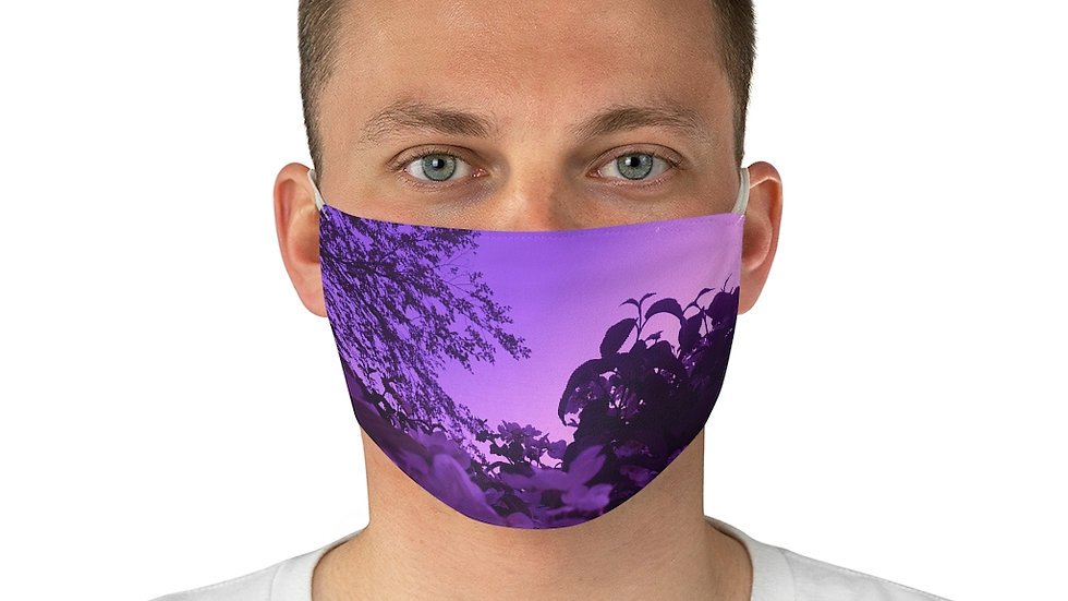 purple spring - Fabric Face Mask